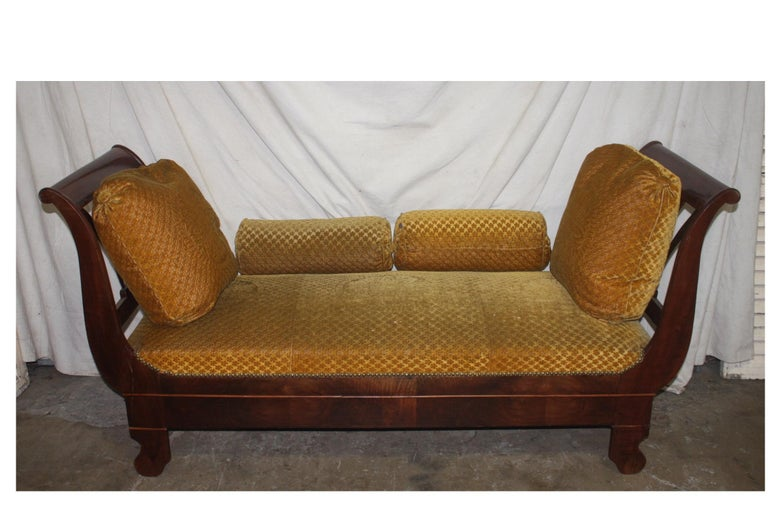 French 19th century daybed.