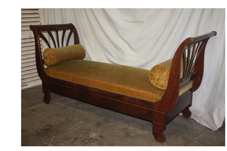 Restauration French 19th Century Daybed For Sale