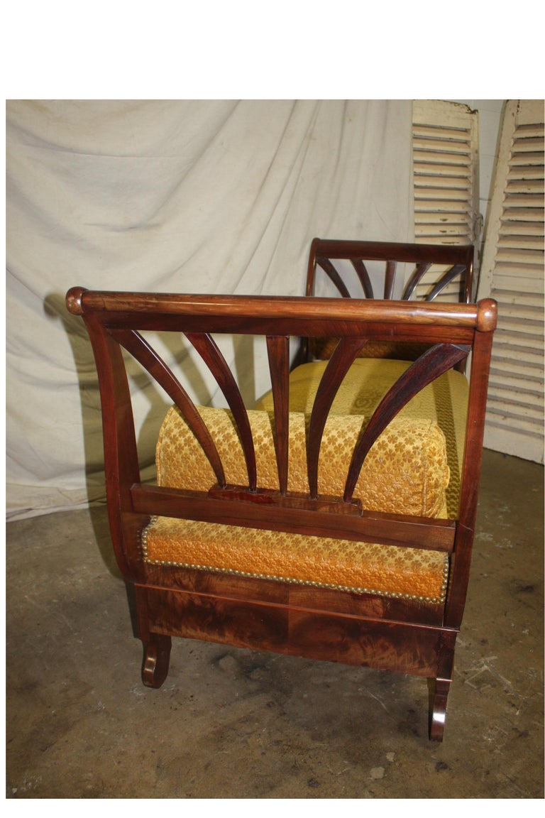 Mahogany French 19th Century Daybed For Sale