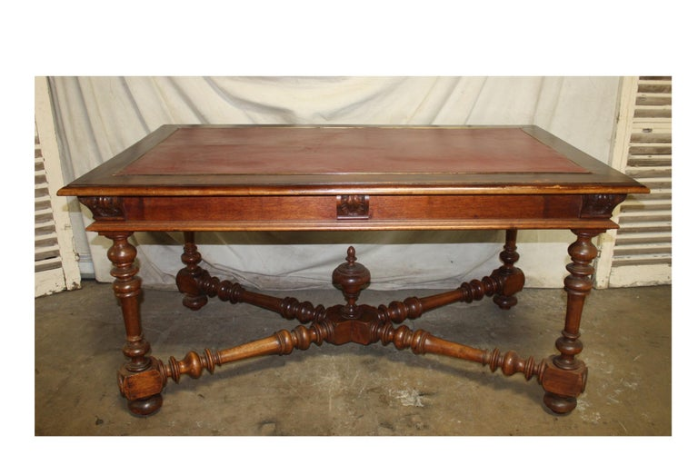 Leather French 19th Century Desk For Sale