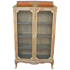 French 19th Century Doré Bronze Bookcase by F. Linke