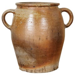 French 19th Century Earthenware Crock
