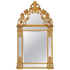 French 19th Century Egyptian Revival Neoclassical Style Double Framed Mirror