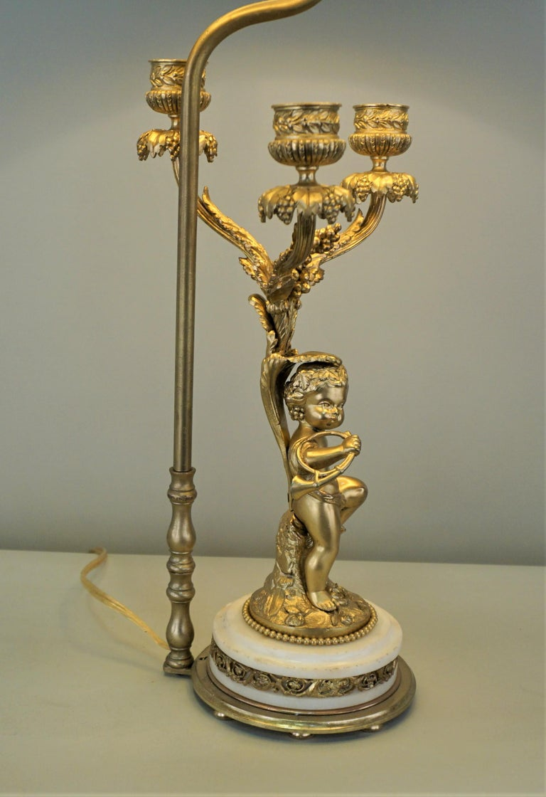 French 19th Century Electrified Bronze Candelabra For Sale 1