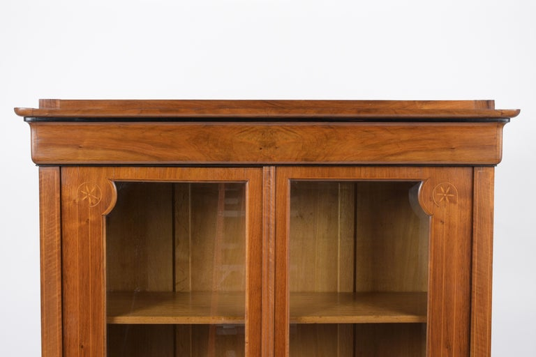 Hand-Carved French 19th Century Empire Bookcase For Sale
