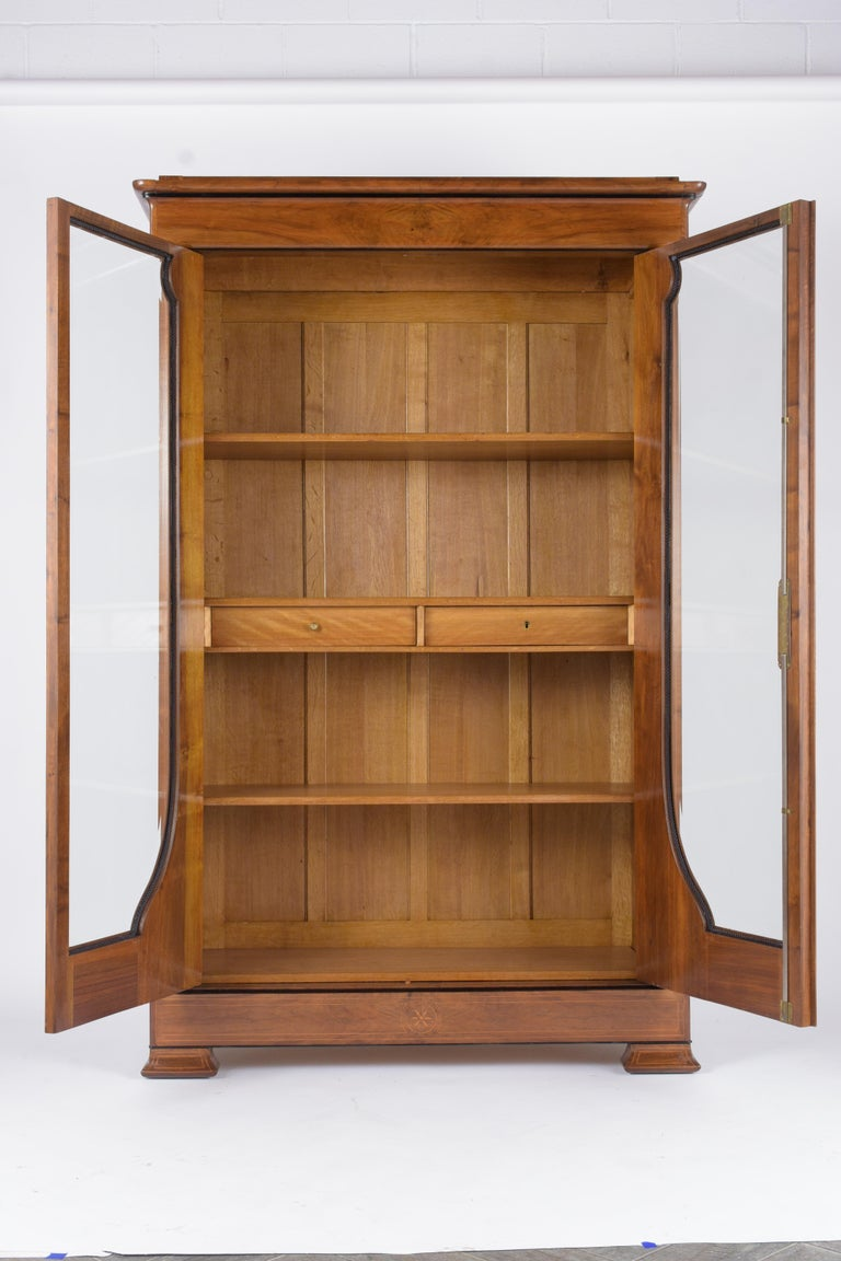 Glass French 19th Century Empire Bookcase For Sale