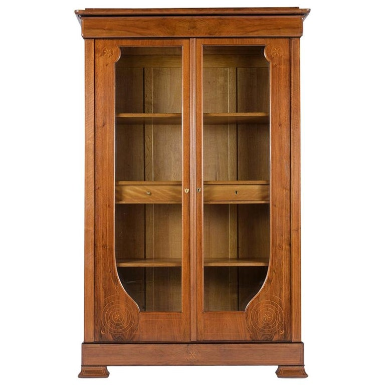 French 19th Century Empire Bookcase For Sale