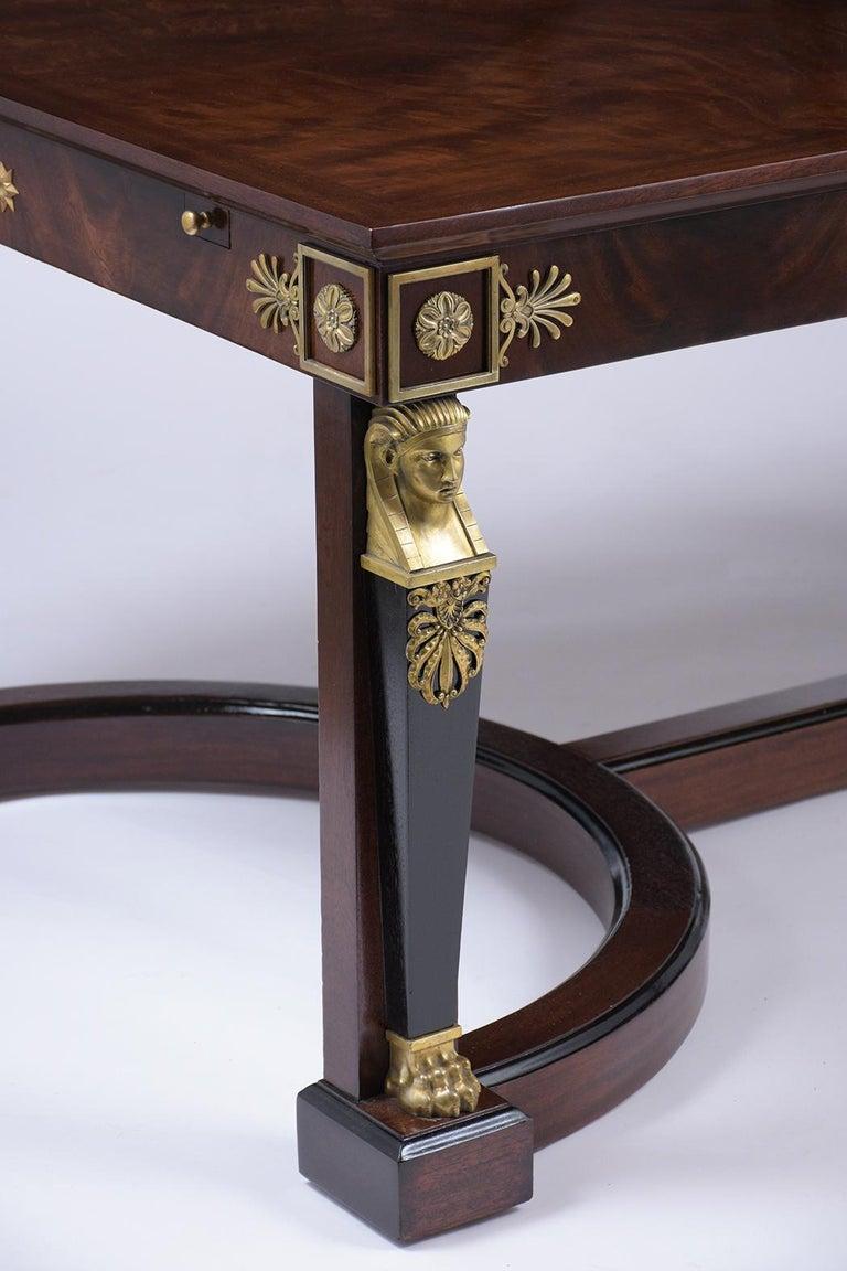 French 19th Century Empire Mahogany Desk For Sale 3