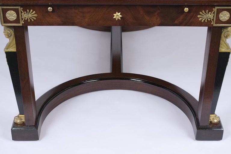 French 19th Century Empire Mahogany Desk For Sale 4