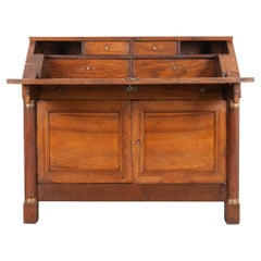 French 19th Century Empire Drop Front Desk
