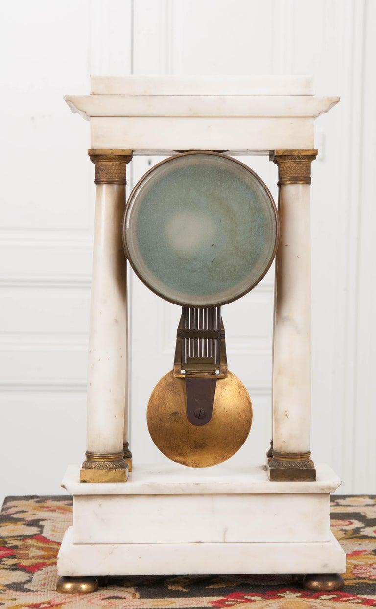 French 19th Century Empire Portico Clock For Sale 5