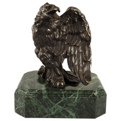 French 19th Century Empire St. Patinated Bronze Eagle Statue