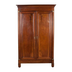 French 19th Century Empire Style Walnut Armoire