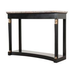French 19th Century Empire-Style Ebonized Console