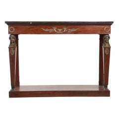 French 19th Century Empire-Style Mahogany Console