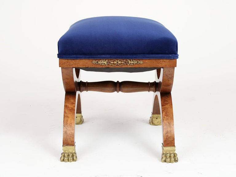 Mid-19th Century French 19th Century Empire Style Petite Stool For Sale