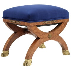 French 19th Century Empire Style Petite Stool