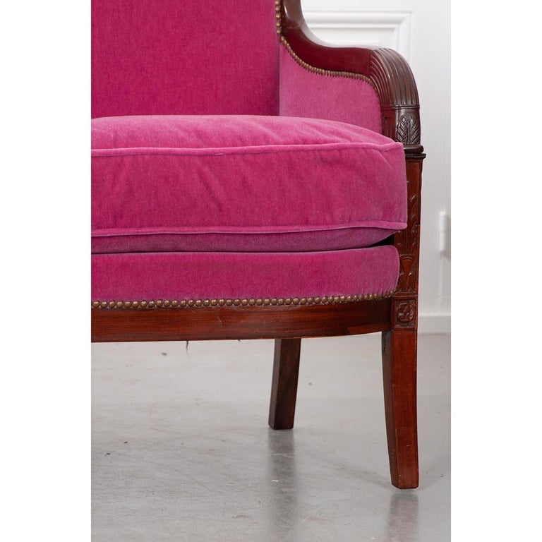 Mahogany French 19th Century Empire-Style Settee For Sale