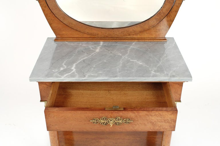 French 19th Century Empire Style Vanity In Good Condition For Sale In Los Angeles, CA