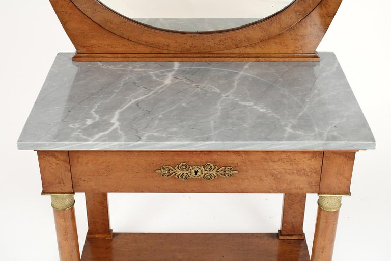 Mid-19th Century French 19th Century Empire Style Vanity For Sale