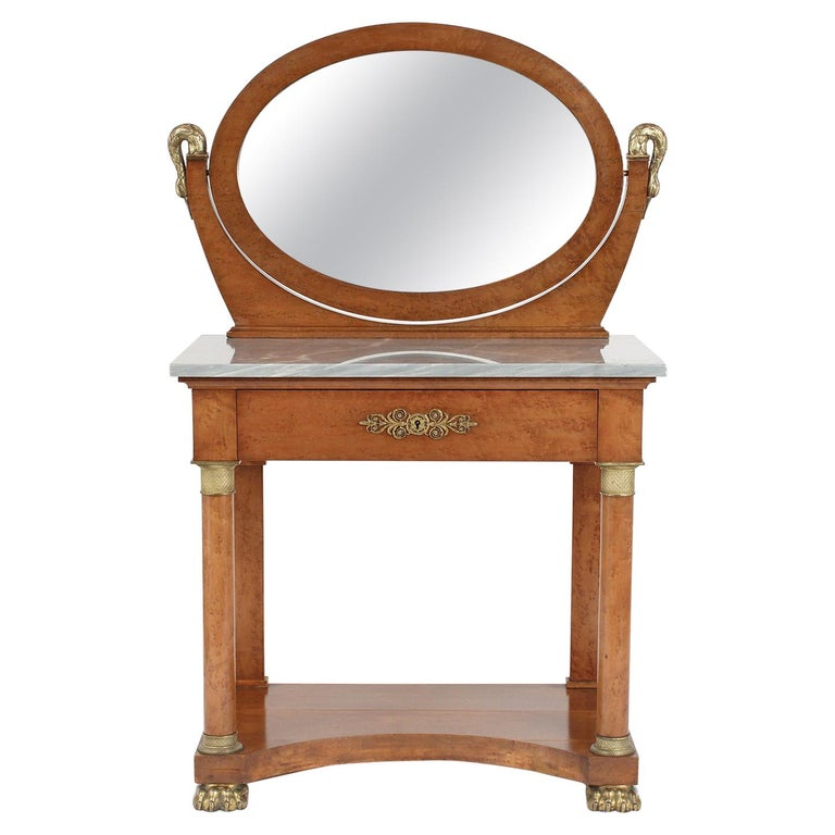 French 19th Century Empire Style Vanity For Sale