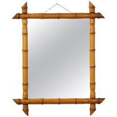 French 19th Century Faux Bamboo Mirror