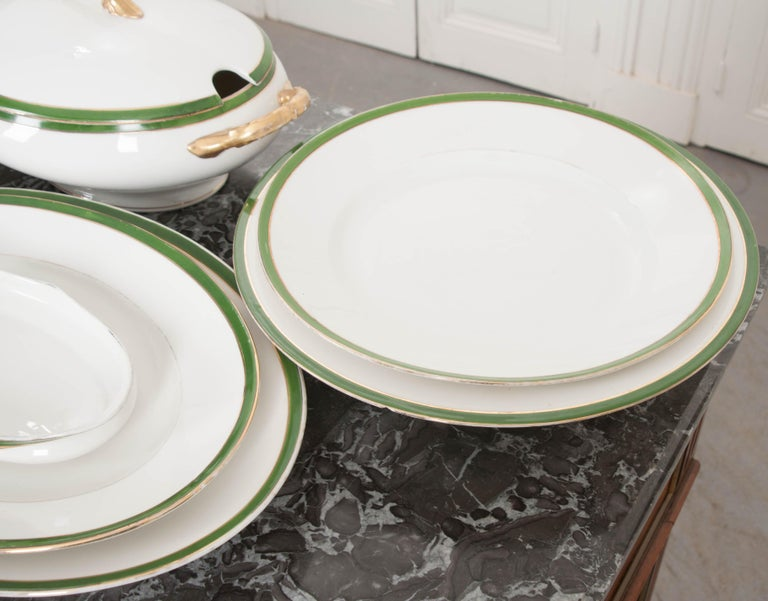 French 19th Century Fifty Two Piece Limoges Luncheon For