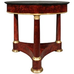 French 19th Century First Empire Crouch Mahogany Center Table