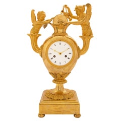 French 19th Century First Empire Ormolu Clock