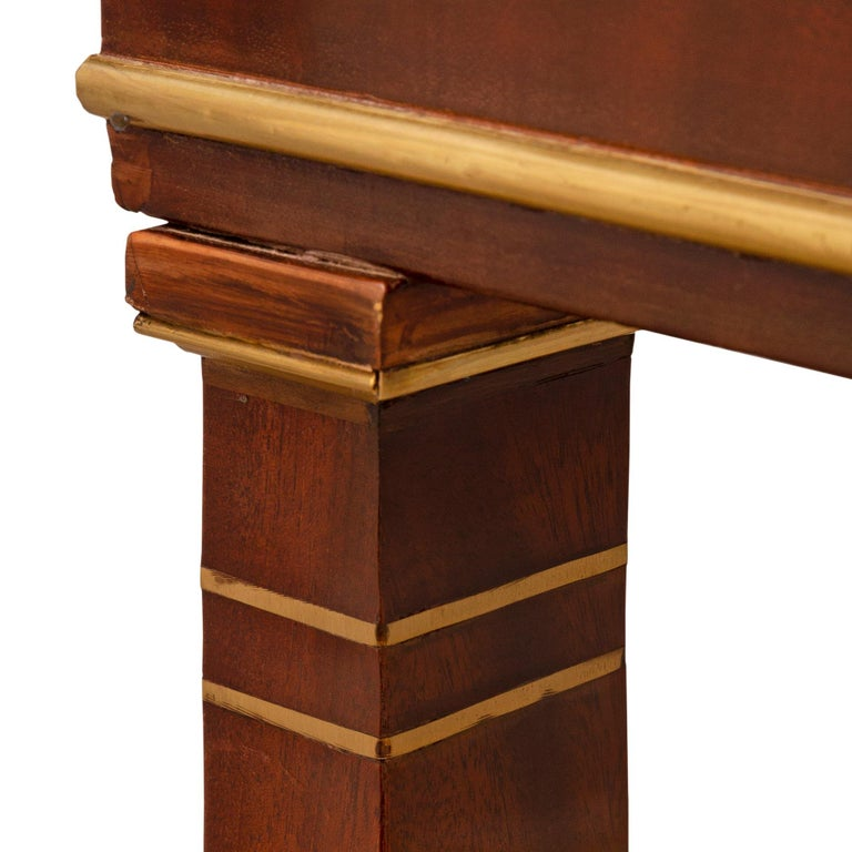 French 19th Century First Empire Period Mahogany, Brass and Marble Console For Sale 2
