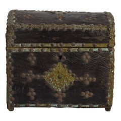 French 19th Century Folk Art Leather Box