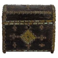 French 19th Century Folk Art Leather Box
