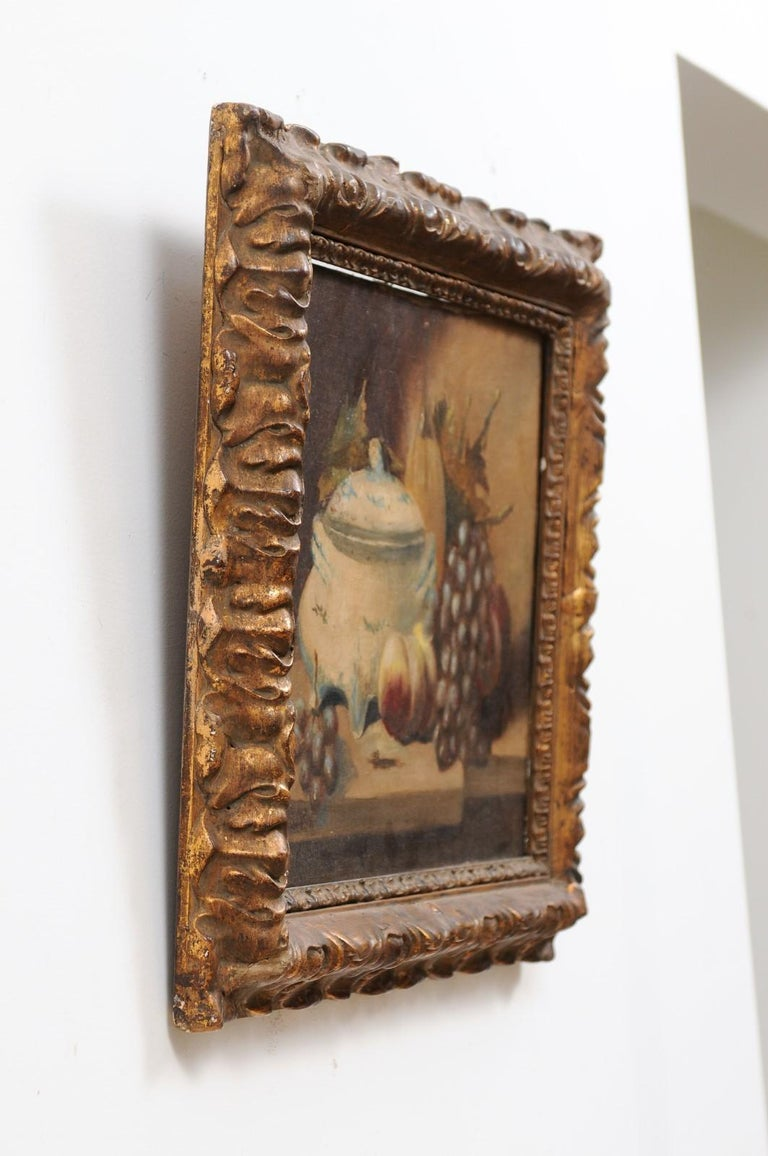 French 19th Century Framed and Signed Oil on Canvas Still-Life Painting For Sale 7
