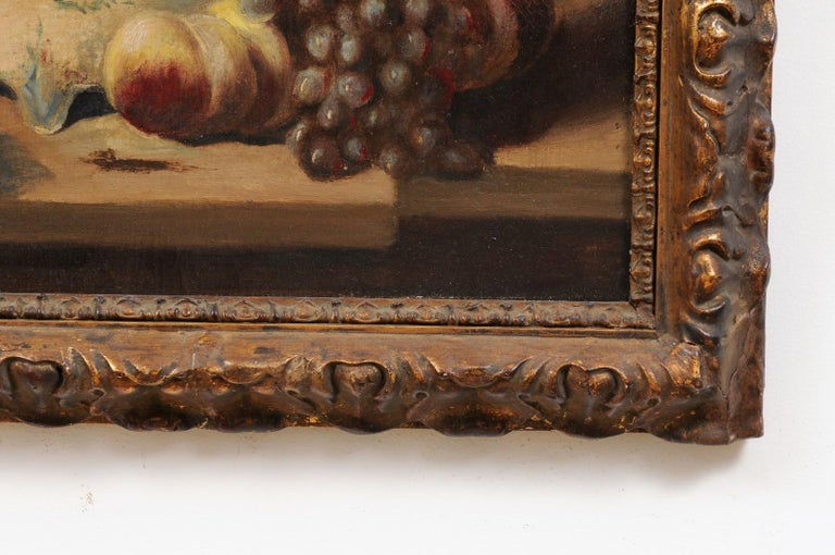 French 19th Century Framed and Signed Oil on Canvas Still-Life Painting For Sale 1
