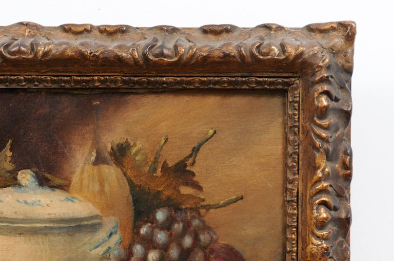 French 19th Century Framed and Signed Oil on Canvas Still-Life Painting For Sale 2