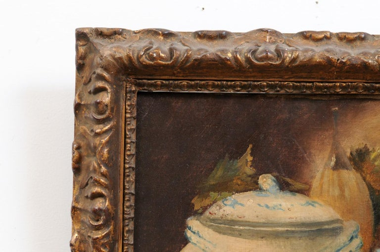 French 19th Century Framed and Signed Oil on Canvas Still-Life Painting For Sale 3