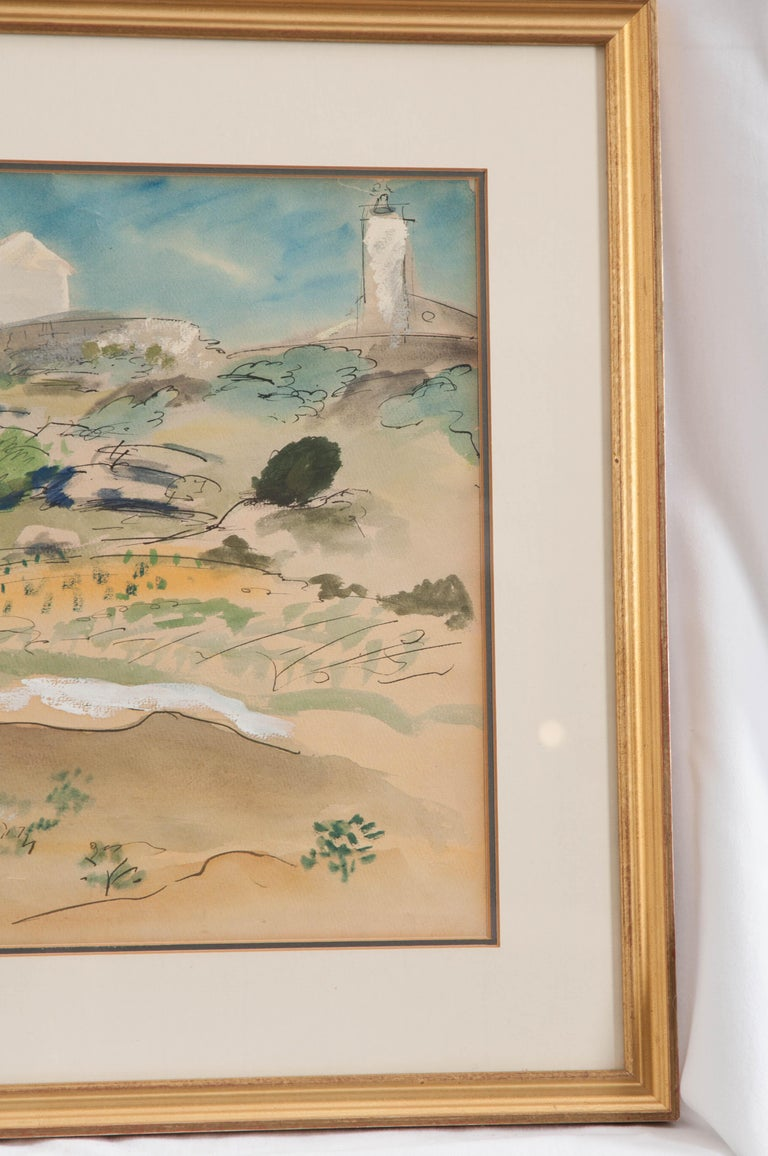 French 19th Century Framed Landscape Painting In Good Condition For Sale In Baton Rouge, LA