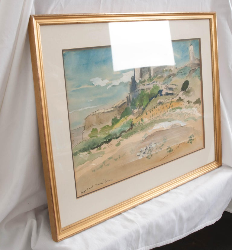 French 19th Century Framed Landscape Painting For Sale 1