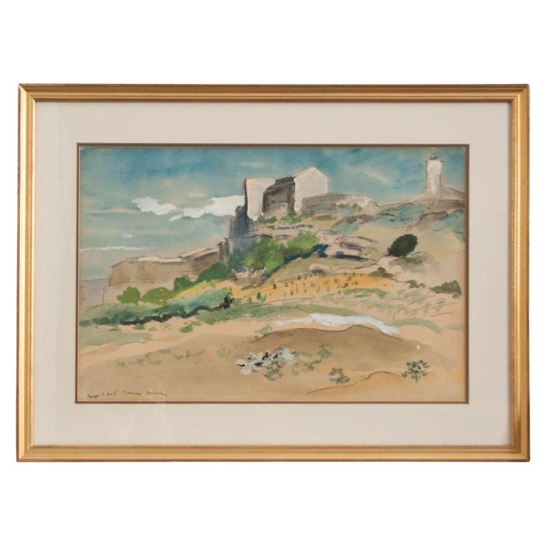 French 19th Century Framed Landscape Painting For Sale