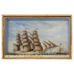 French 19th Century Framed Nautical Diorama