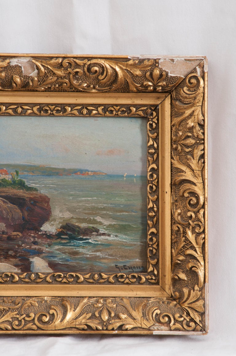 Neoclassical French 19th Century Framed Oil Painting For Sale