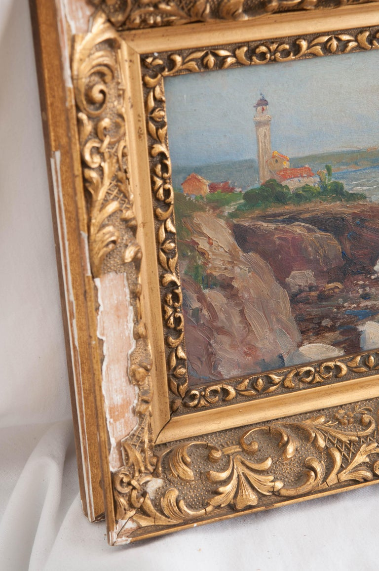 French 19th Century Framed Oil Painting In Good Condition For Sale In Baton Rouge, LA