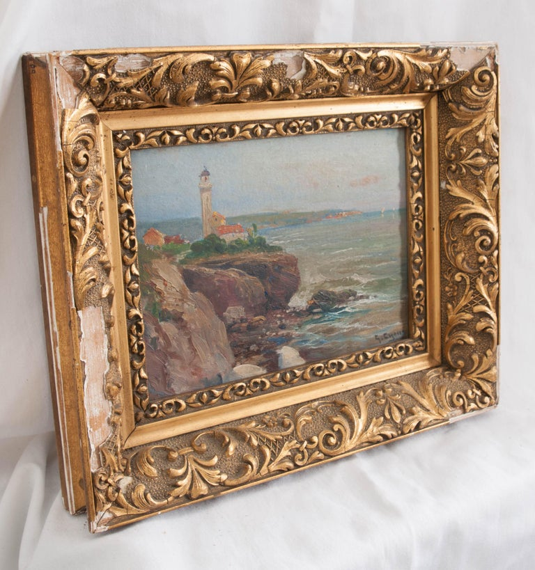 French 19th Century Framed Oil Painting For Sale 1