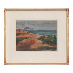 French 19th Century Framed Watercolor on Paper