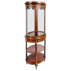 French 19th Century Free Standing Vitrine/ Display Cabinet, Edwards and Roberts