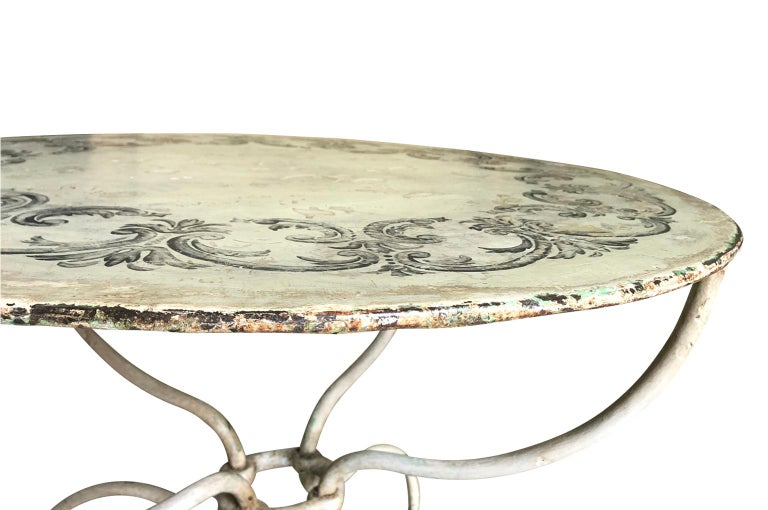 Iron French 19th Century Garden Table For Sale