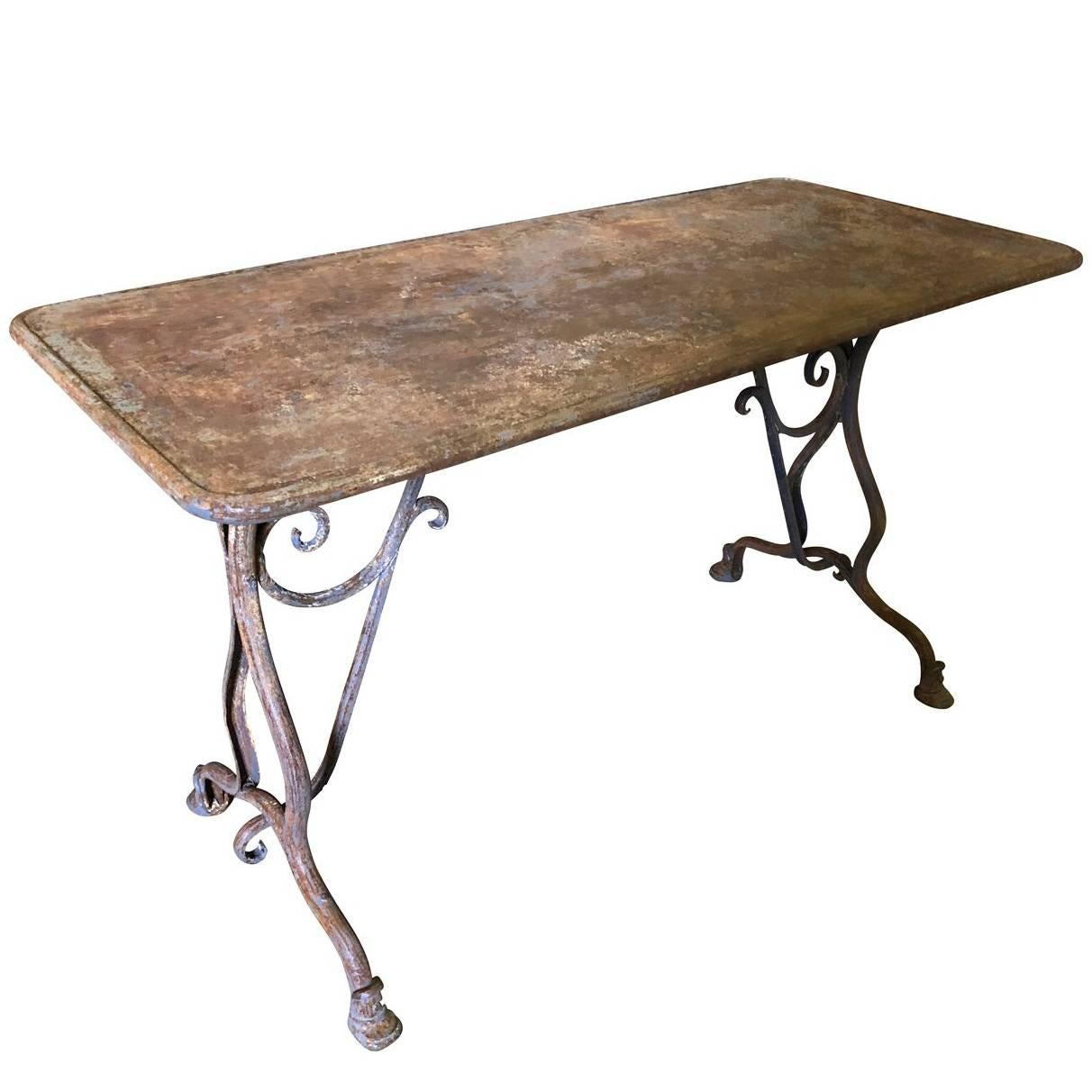 French 19th Century Garden Table from Arras