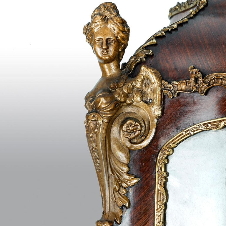 French 19th Century Gilt Bronze Vernis Martin Vitrine Cabinet For Sale 8