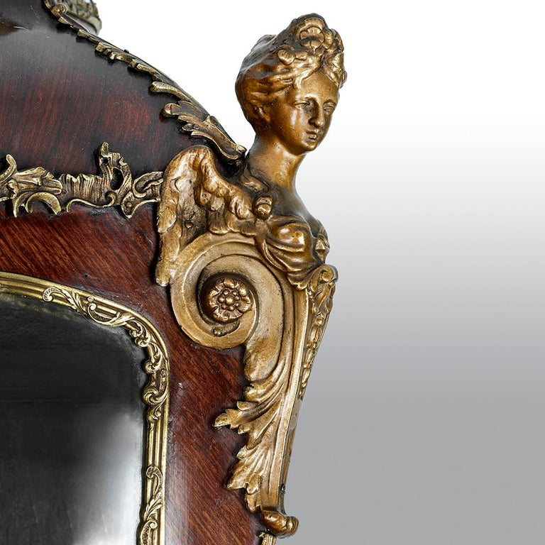 French 19th Century Gilt Bronze Vernis Martin Vitrine Cabinet For Sale 11