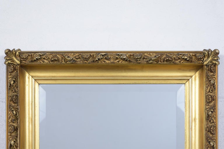 French 19th Century Napoleon III Giltwood Mirror For Sale